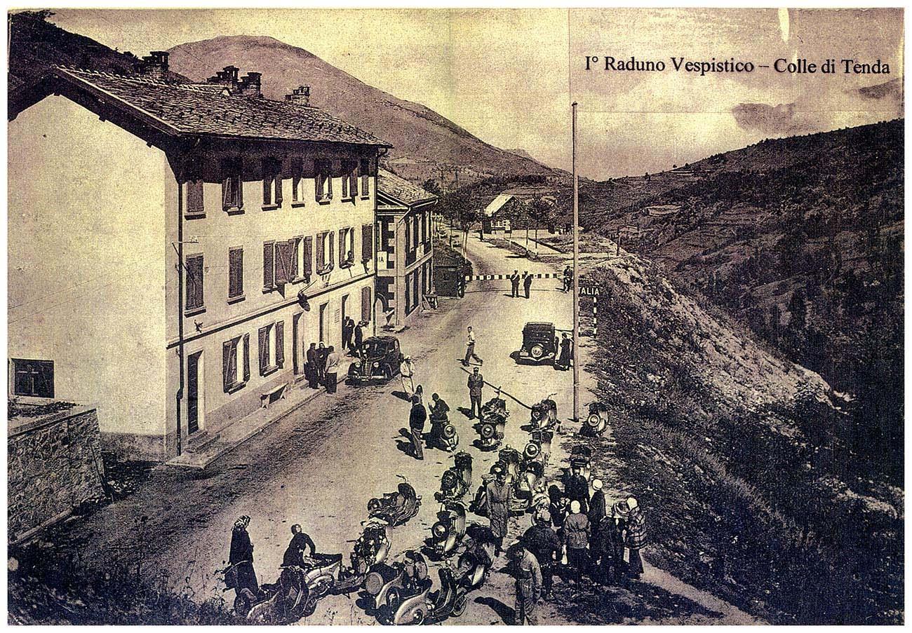 Primi anni '50 - Colle di Tenda - 1° raduno Vespistico